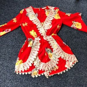 Illa illa dress  shorts romper brand new